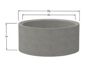 Våra brunnsringar är av gedigen betong