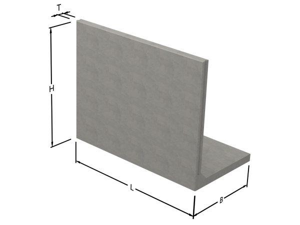 L-stöd i stark betong